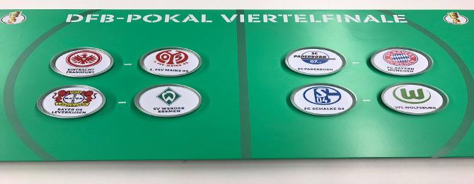 Štvrťfinále DFB Pohára - Program