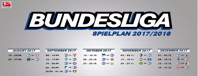Program Bundesligy - Jeseň 2017